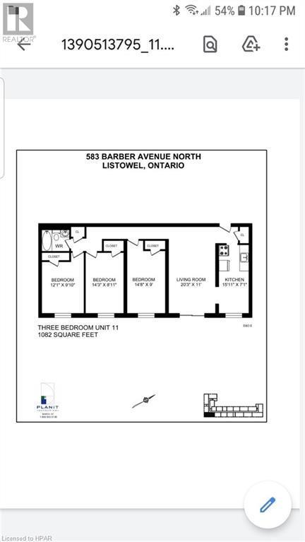 583 BARBER Avenue Unit# 11, listowel, Ontario